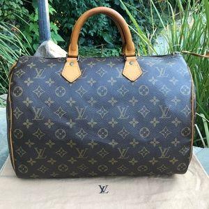 💯Louis Vuitton Monogram Speedy 35 *W/DUST BAG* ❤️